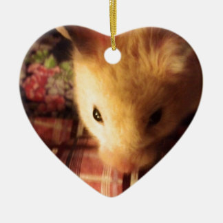 Cute Syrian Hamster Christmas Ornament