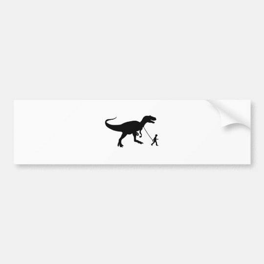 Cute T-rex Pet Bumper Sticker