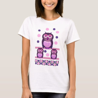 Cute t-shirt with owls and polka dots