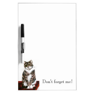 Cute Tabby Cat Art Dry Erase Board