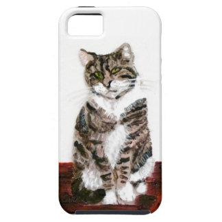 Cute Tabby Cat Art iPhone 5 Covers