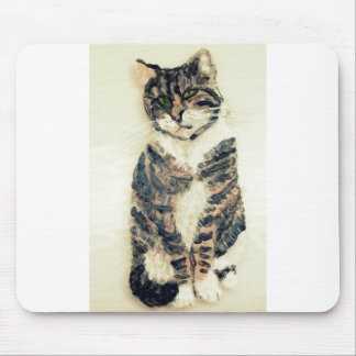 Cute Tabby Cat Art Mouse Mat