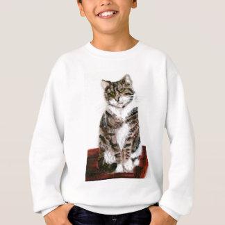 Cute Tabby Cat Art Sweatshirt