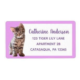 Cute Tabby Cat Kitten Lavender Large