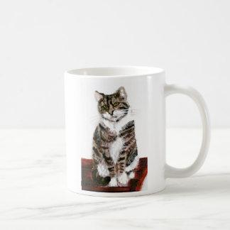 Cute Tabby Cat Basic White Mug