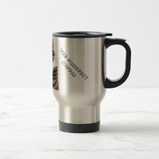 Cute Tabby Cat Stainless Steel Travel Mug