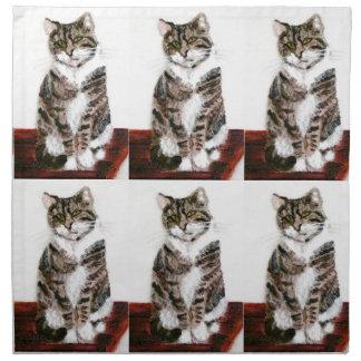 Cute Tabby Cat Napkin