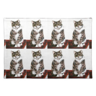 Cute Tabby Cat Placemat
