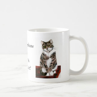 Cute Tabby Cats are welcome Basic White Mug