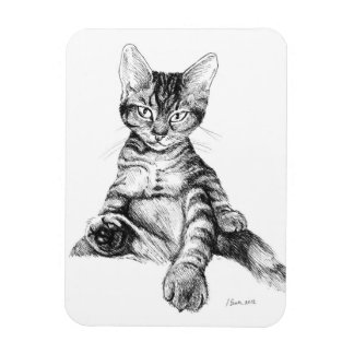 cute tabby kittens rectangular photo magnet