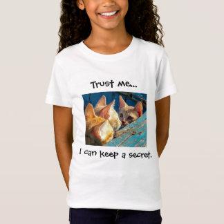 Cute Tabby Kittens "Trust Me" T-Shirt