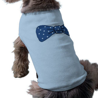 Cute Tank Top with Blue Bow Sleeveless Dog Shirt