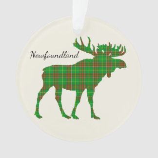 Cute Tartan moose Newfoundland Christmas ornament