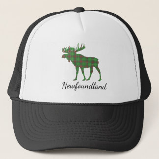 Cute Tartan moose Newfoundland hat