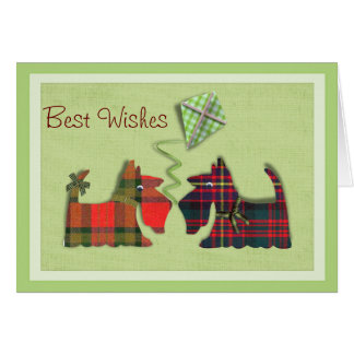 Cute Tartan Scottie Dogs Birthday/Note cards