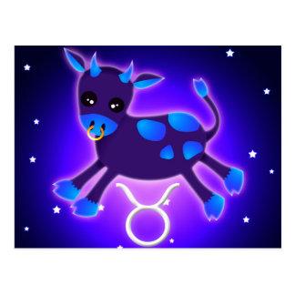 Cute Taurus Zodiac Postcard