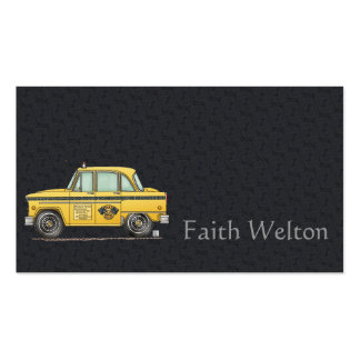 Cute Taxi Cab Pack Of Standard Business Cards