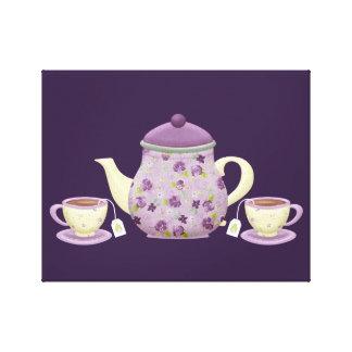 """""""Cute Tea Party"""" CANVAS PRINT"""