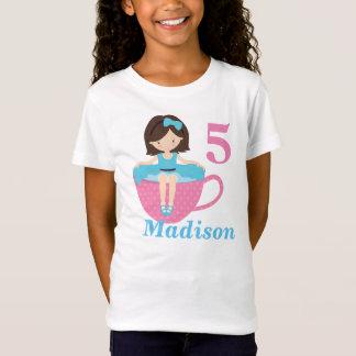 Cute Tea Party Girl Birthday T-Shirt