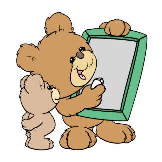 cute teacher teddy bear with chalkboard standing photo sculpture