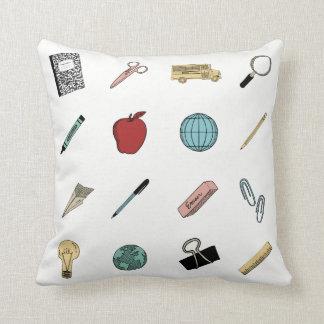 Cute Teachers School Supplies Cushion