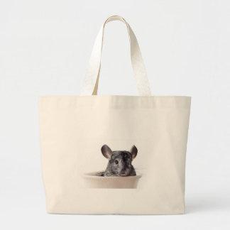 Cute Teacup Chinchilla Grey Bags