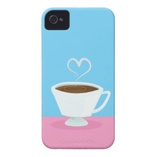 Cute Teacup with heart steam iPhone 4 Cases