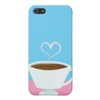 Cute Teacup with heart steam iPhone 5/5S Case