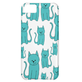 Cute Teal Cats. iPhone 5C Case
