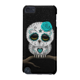 Cute Teal Day of the Dead Sugar Skull Owl Stars iPod Touch 5G Cover