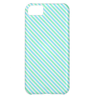 Cute Teal Green and White Stripes iPhone 5C Cases