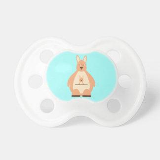 Cute Teal Kangaroo Baby Boy or Girl Baby Pacifiers