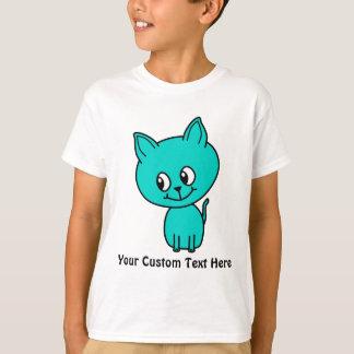 Cute Teal Kitten. T-Shirt