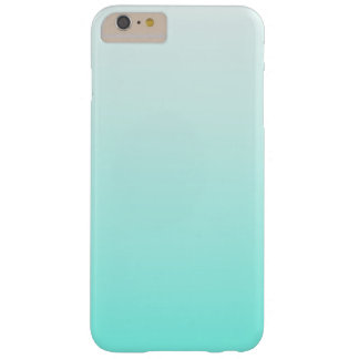 Cute Teal Ombre Girly Barely There iPhone 6 Plus Case