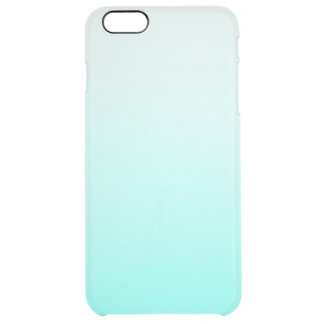 Cute Teal White Ombre Girly Clear iPhone 6 Plus Case
