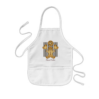 Cute Team Cookie Cartoon Stripes Personalized Kids Apron