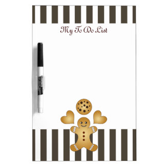 Cute Team Cookie Stripes Personalized Dry Erase Whiteboards