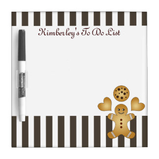 Cute Team Cookie Stripes Personalized Kids Dry-Erase Boards