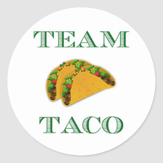 "Cute ""Team Taco"" Classic Round Sticker"