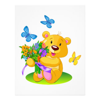 Cute teddy bear 21.5 cm x 28 cm flyer