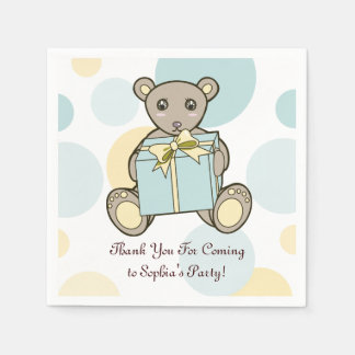 Cute Teddy Bear Baby Shower | Kids Birthday Party Disposable Serviette
