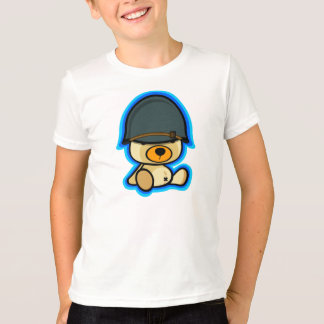 Cute teddy bear brave soldier for kid T-Shirt