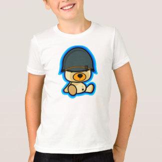 Cute teddy bear brave soldier for kid tshirts