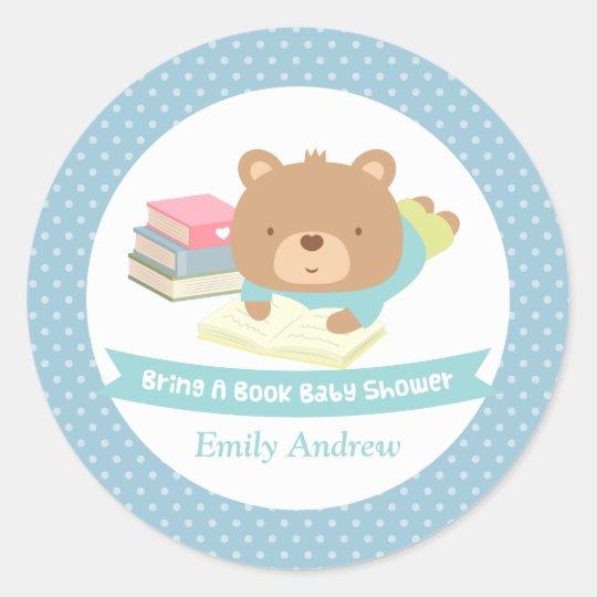 Cute Teddy Bear Bring a Book Baby Shower