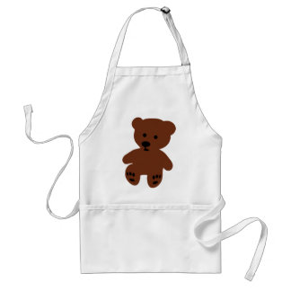 cute teddy bear brown standard apron