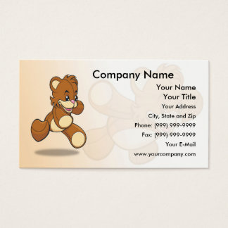 Cute Teddy Bear Business Card