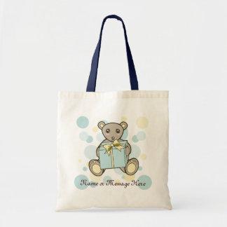 Cute Teddy Bear Cartoon Pastel Kids Personalized Tote Bag