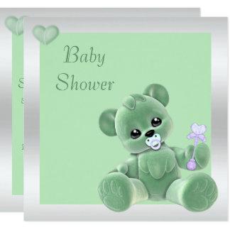 Cute Teddy Bear Double Sided Baby Shower Card