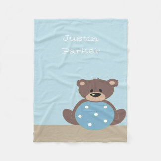 Cute Teddy Bear Fleece Blanket