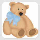 Cute Teddy Bear, For Baby Boy Stickers